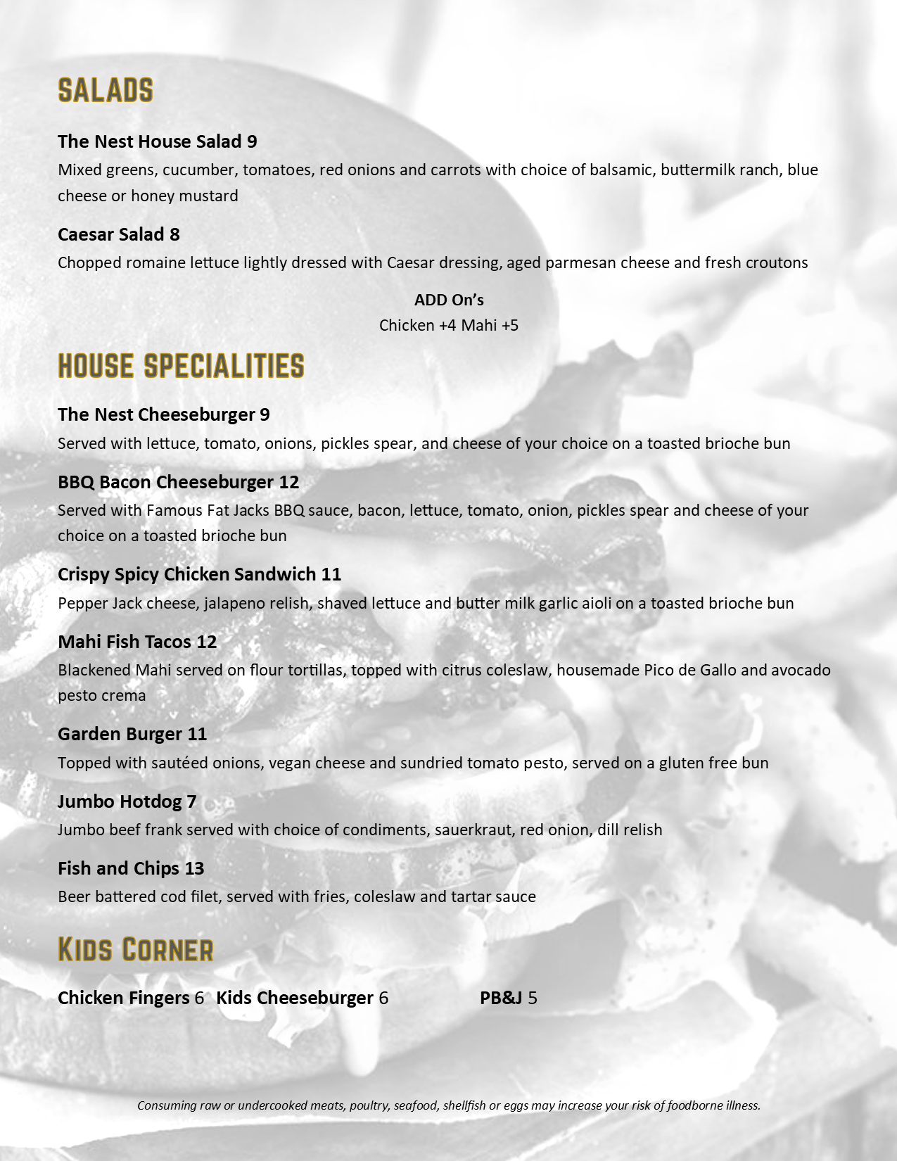 The Nest Reopening Menu 051320 page 2